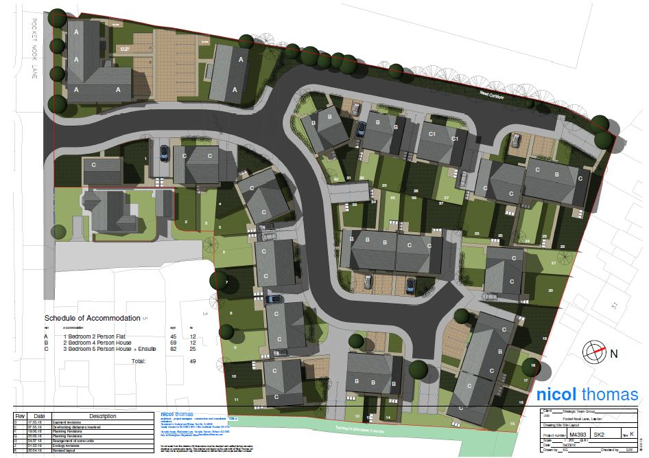 CGI plans for the new affordable homes in wigan